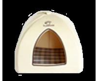 Pet bed 37x37x33cm - light beige