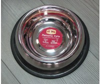 13102 Metal bowl with rubber edge XS - 450ml