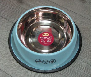 13112 Metal bowl with rubber edge, design - 1800ml