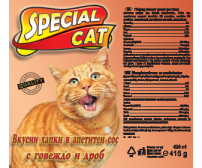 Special Cat 415g - beef and liver
