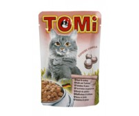 Tomi pouch for cats 100g -  veal and turkey