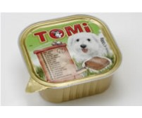 Tomi pate for dogs 300g -  wild